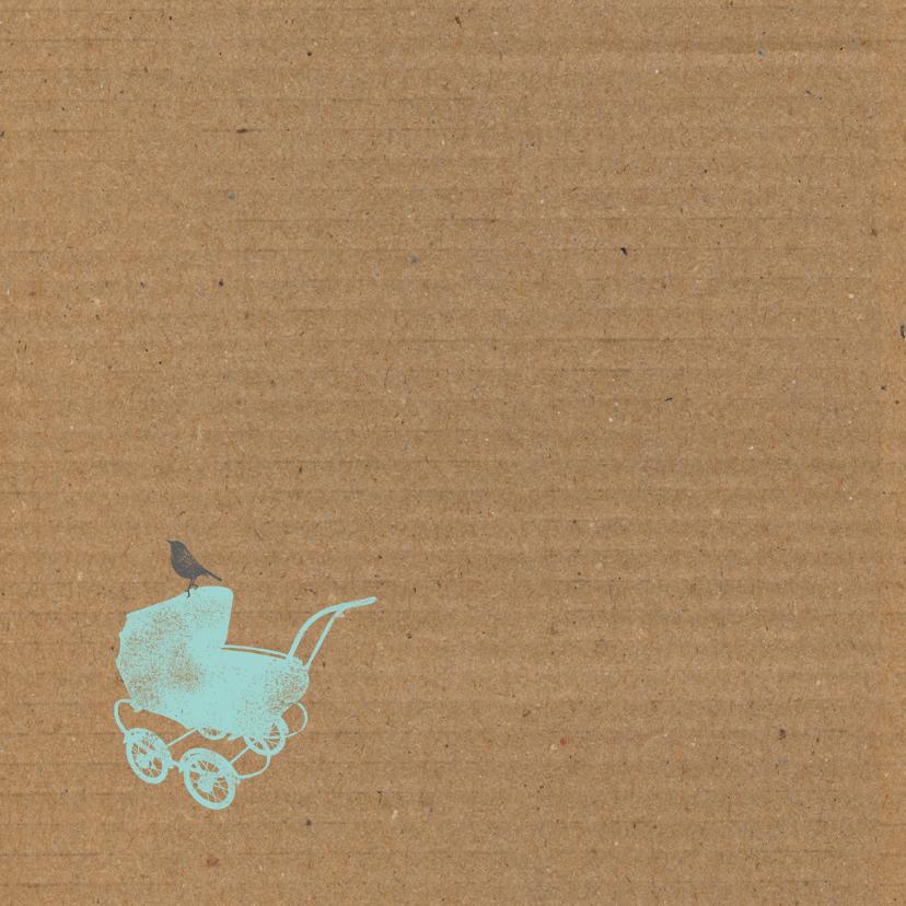 Kinderwagen, karton jongen 2