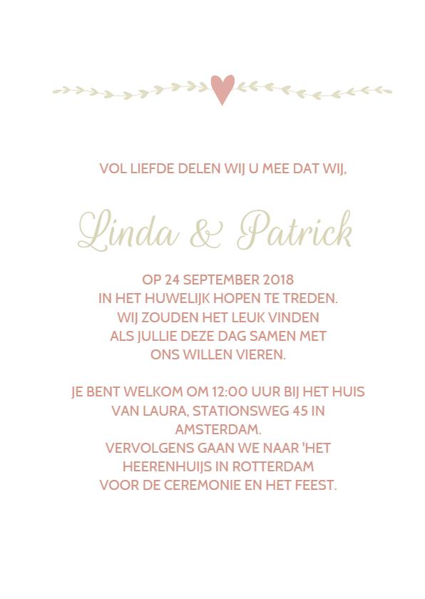 Klassieke trouwkaart takje 3