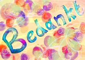 Bedankkaartjes - Kleurig bedankt