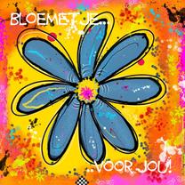 Vriendschap kaarten - Kleurig bloemetje voor jou