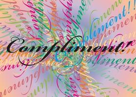Coachingskaarten - Kleurig compliment tekstkaart