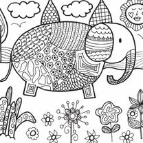 Kleurkaart olifant
