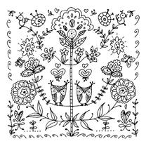 Kleurplaat folklore uiltjes