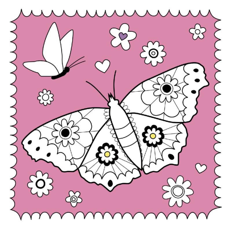 kleurplaat vlinder bloemetjes hk kleurplaat kaarten