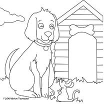 kleurplaatkaart hondje- MT