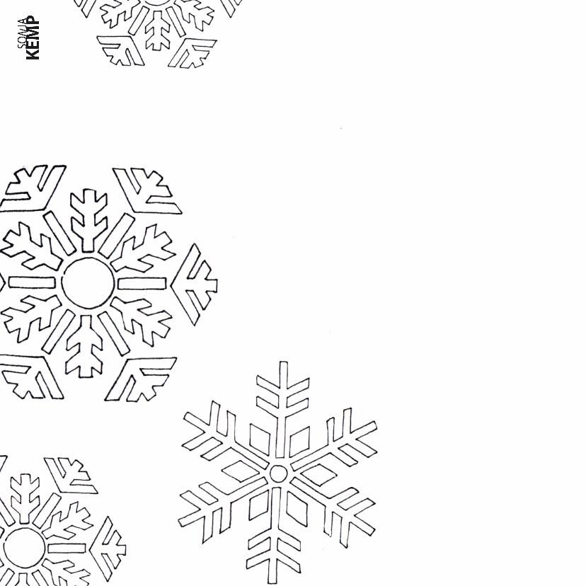 Kleurplaatkaart kat in de winter - SK 2
