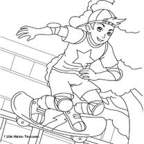 kleurplaatkaart skater- MT