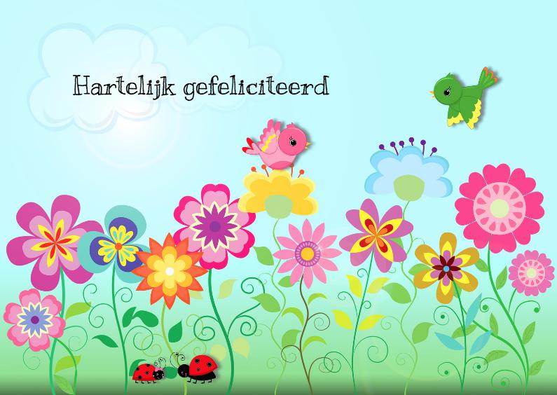 hartelijk gefeliciteerd bloemen
