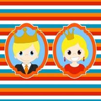 Kinderkaarten - Koningspaar