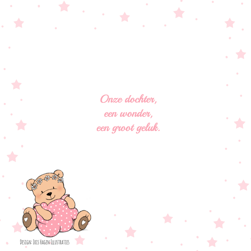 Kraamfeest meisje beer en ster IH 2