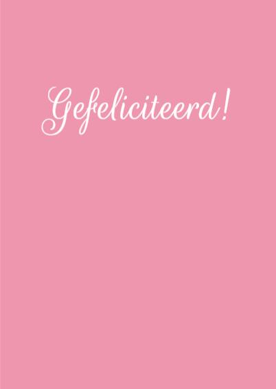 Krijtbord, getrouwd, roze hartje 3