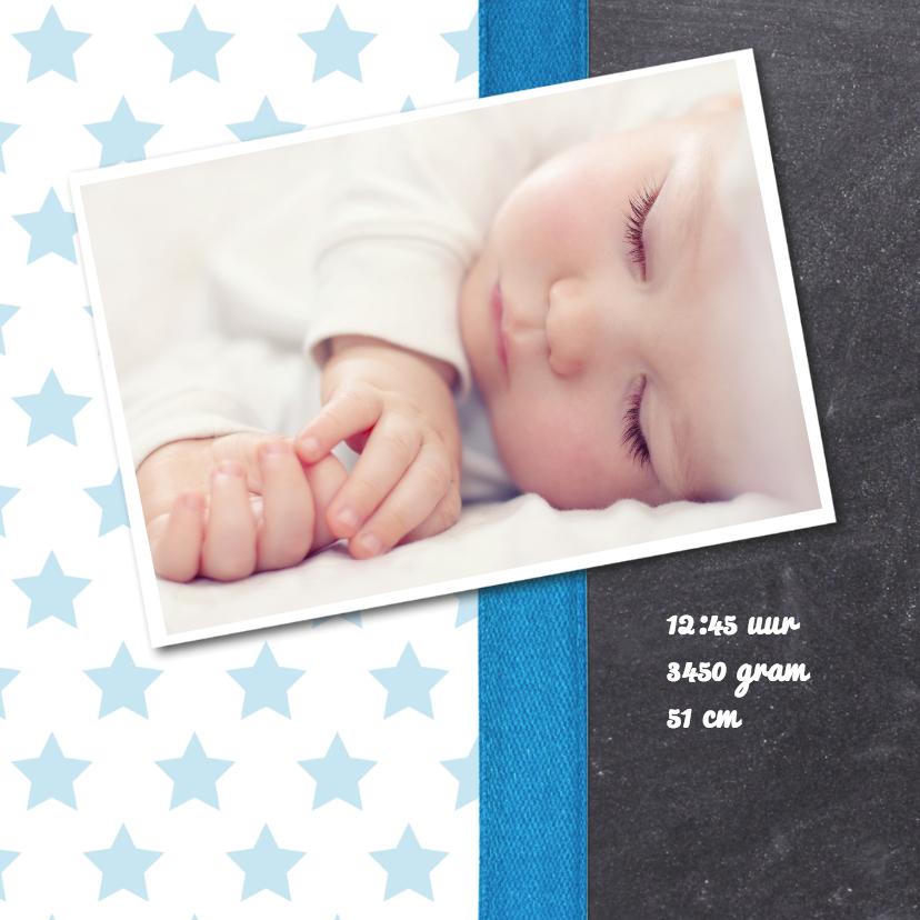 Krijtbord jongen foto geboorte 2