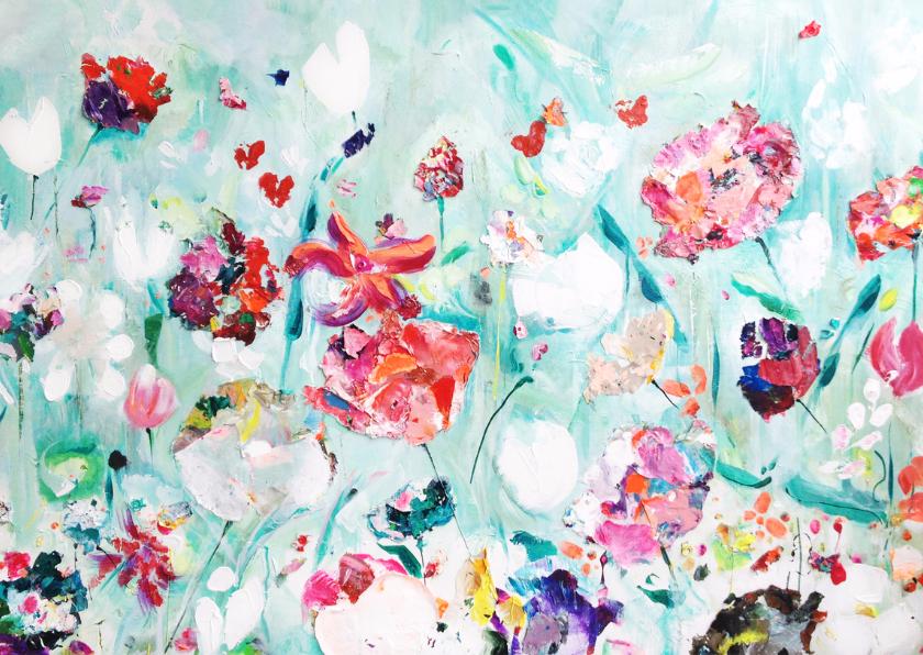 Kunst schilderij print Tuin 2