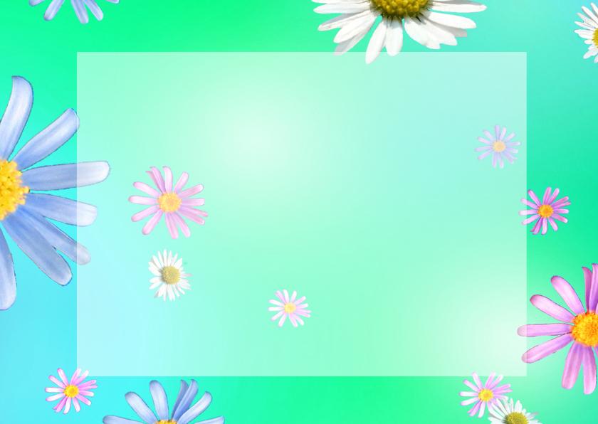 Lente Bloemen Hart met foto 2