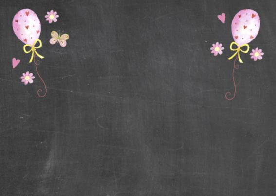 lentefeest meisje schoolbord 2