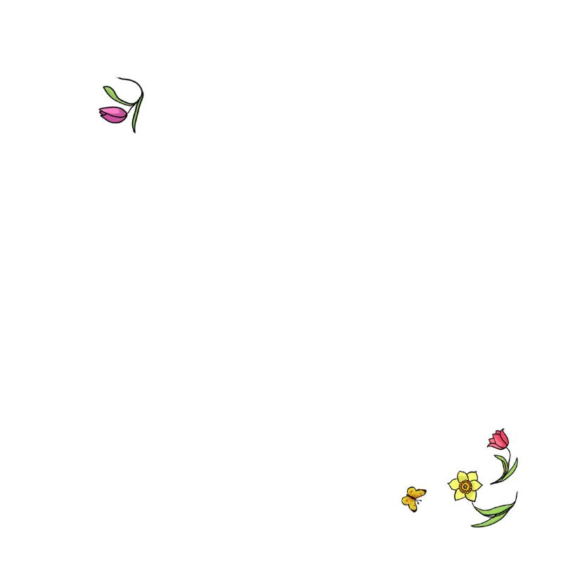 Lentekaart kinderen met bloemen 3