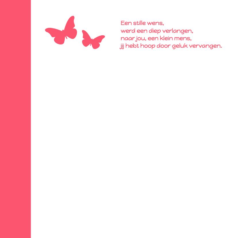 Letterpress roze vlinder - DH 2