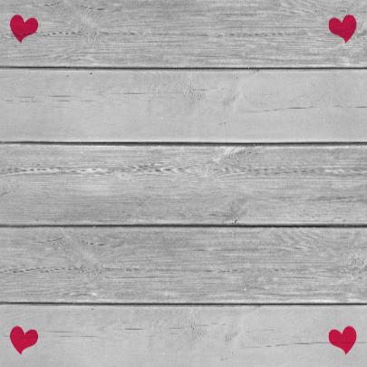 Leuke liefde kaart met hartjes aan koortje op steigerhout 3