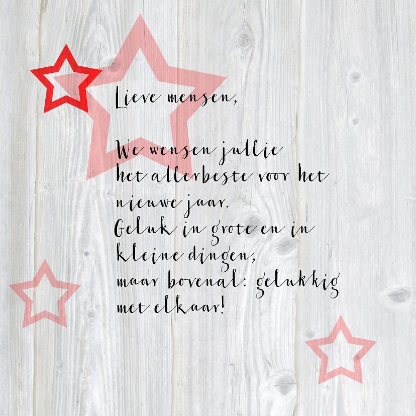 Leuke nieuwjaarskaart met sterren 3