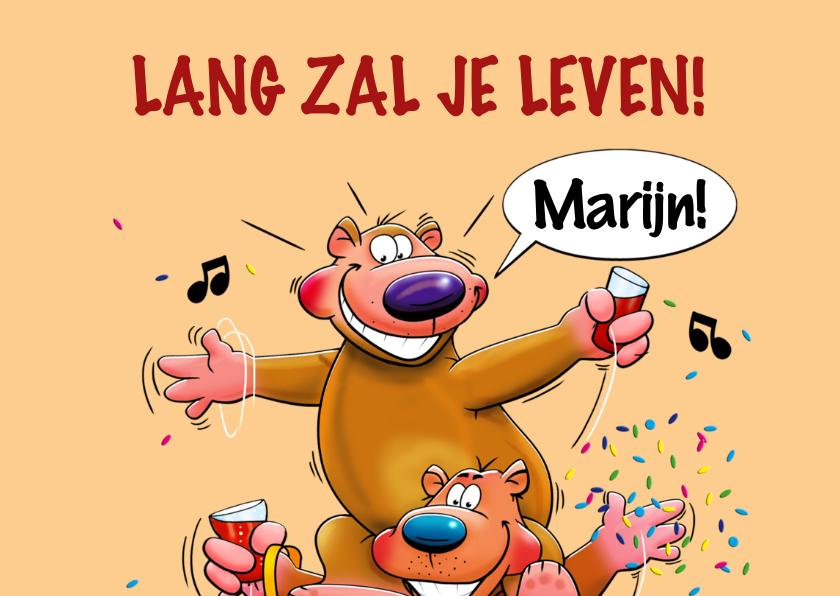Leuke verjaardagskaart met 3 grappige beren 2