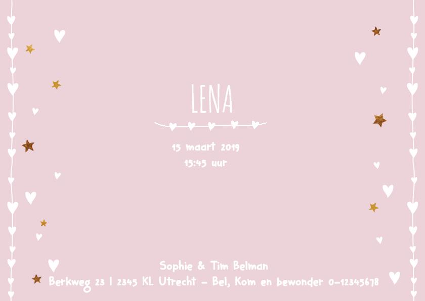 lief geboortekaartje foto Lena 3