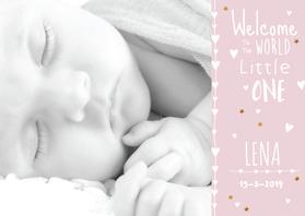 Geboortekaartjes - lief geboortekaartje foto Lena