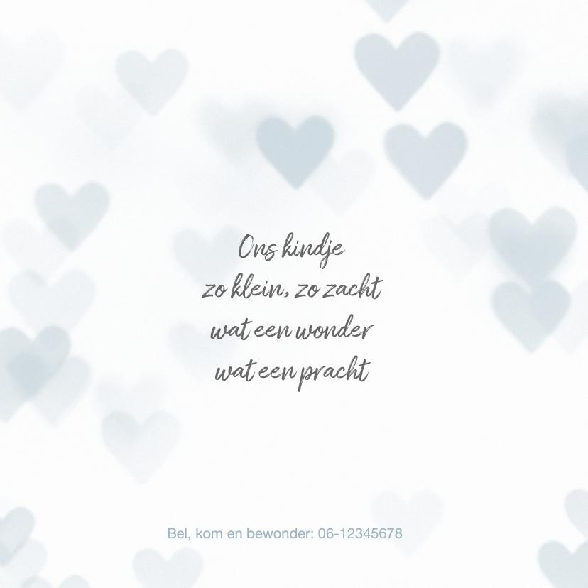 Lief geboortekaartje jongen hartjes 2