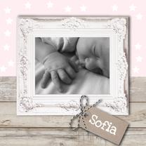 Geboortekaartjes - Lief geboortekaartje sterretjes