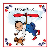 Geboortekaartjes - Lief jongetje vliegt naar huis