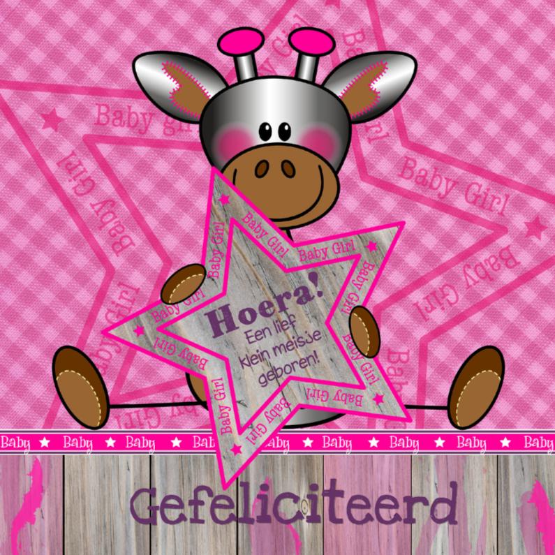 Lief meisje GIRAFFE felicitatie