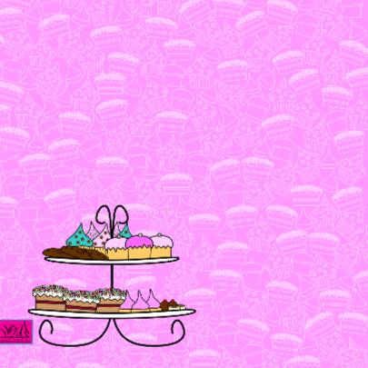 Lief roze kaart met cupcakes 2