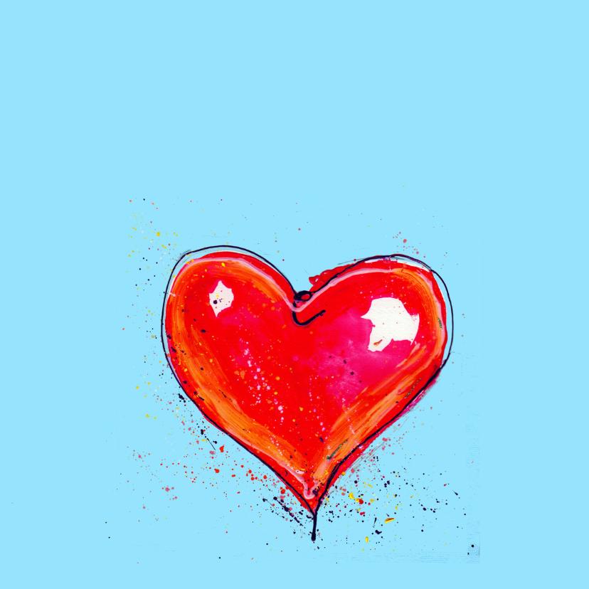 Liefde kaart met rood hart 2