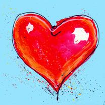 Liefde kaart met rood hart