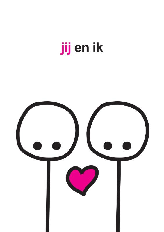 Favoriete Liefde Mimiez Jij en Ik - Liefde kaarten - Kaartje2go IX36