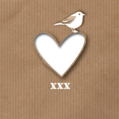 Liefde - Paper Heart Bird - MW 2