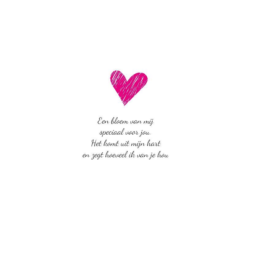 Liefdeskaart - Ik hou van jou - Border Collie met bloem 2