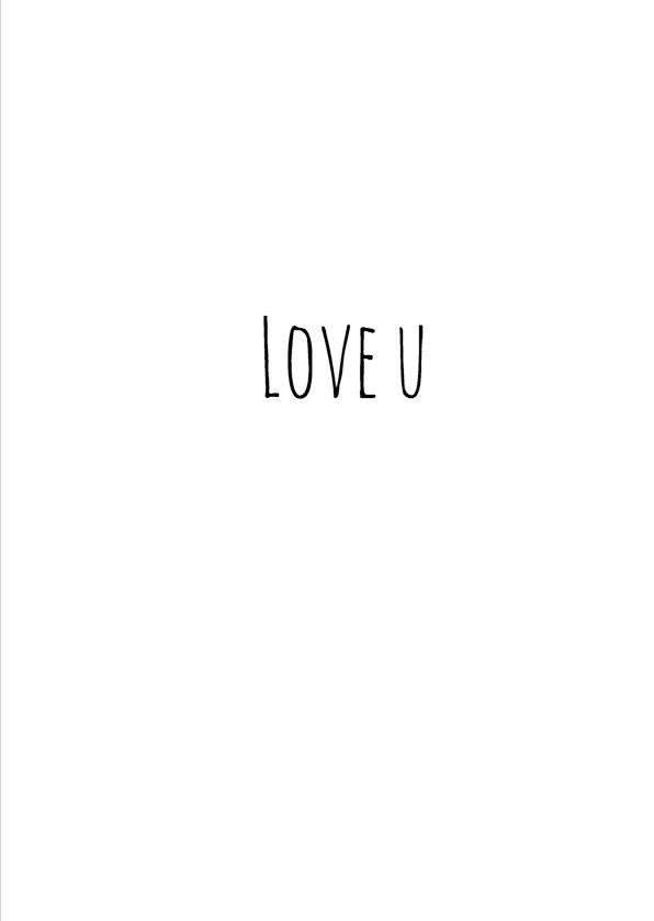 Liefdeskaart Love U konijn 3