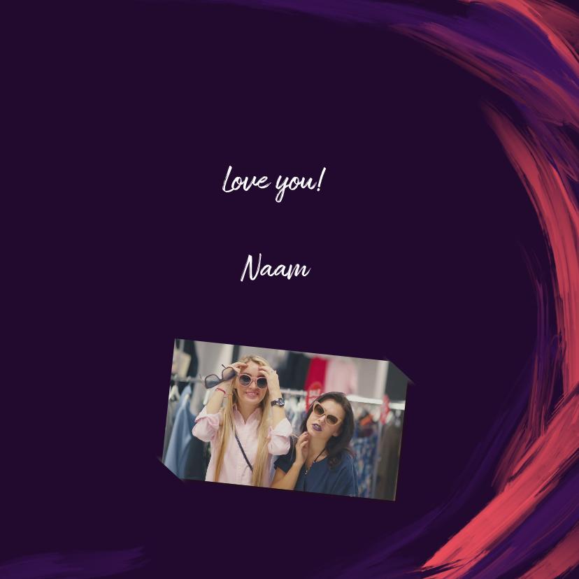 Liefdeskaart love you geschilderd 3