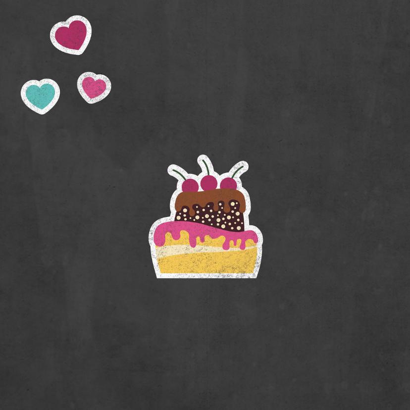 Liefdeskaart met jou zou ik wel eens een taartje willen eten 2