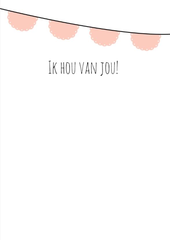 """Liefdeskaart """"Vlaggetjes"""" - WW 3"""