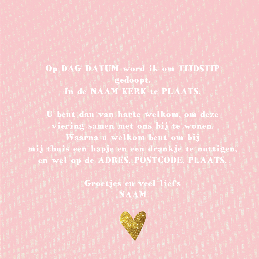 lieve doopfeest kaart 3