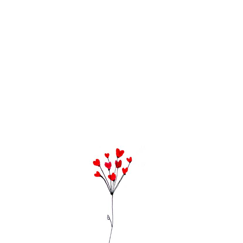Lieve kaart met bloemen 2