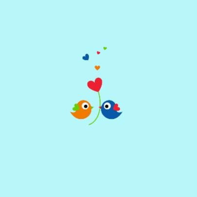 Lieve kleurige vogeltjes 2