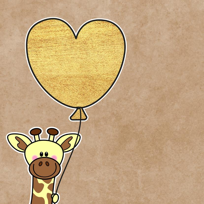 Lieve Opa en Oma giraffe hart 2