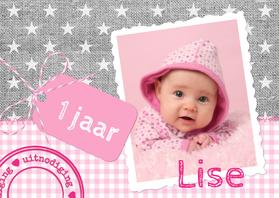 Kinderfeestjes - Linnen Sterren Label Meisje