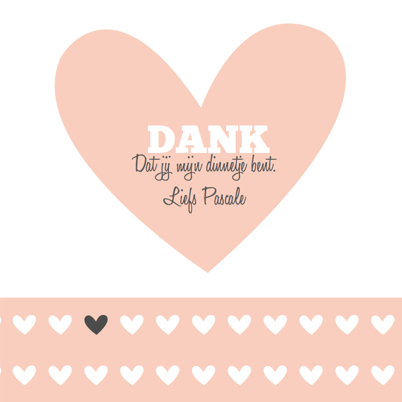 Love you liefdeskaart hartje 3