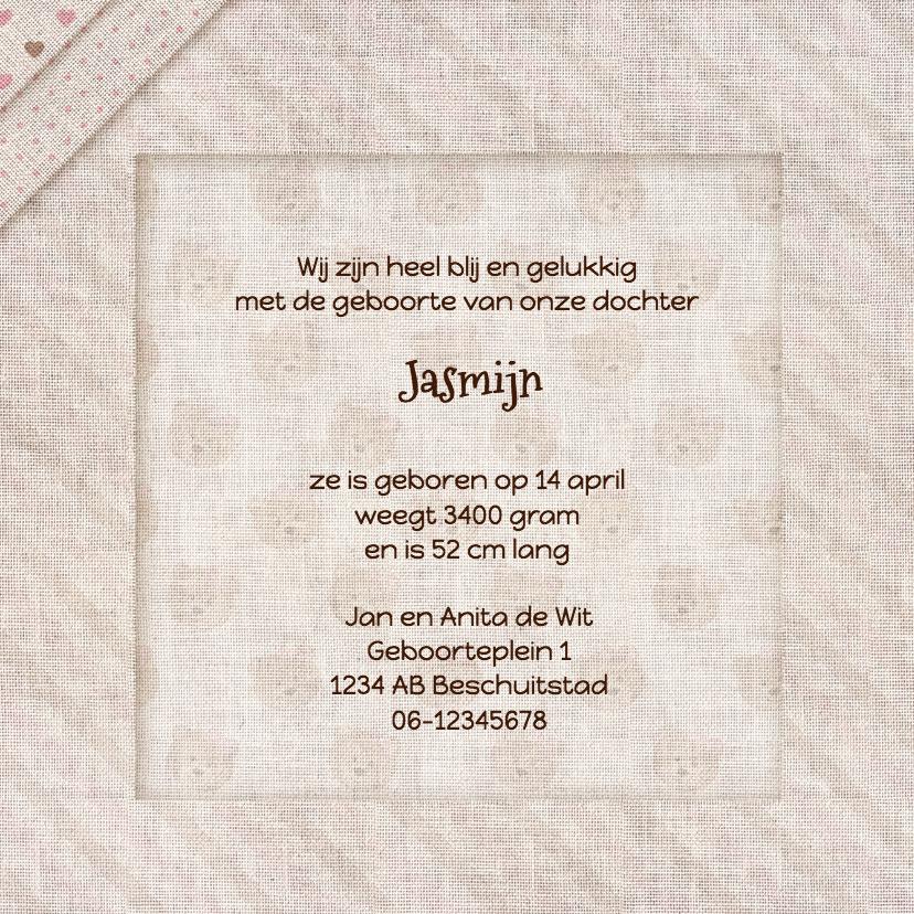 Meisje geboren linnen-print 3