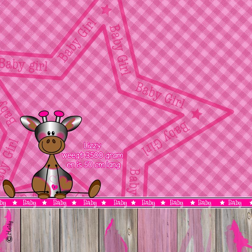 Meisje   Stoer lief girafje roze 2