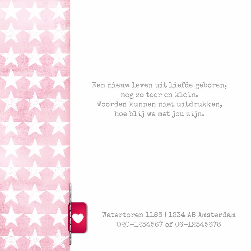 Meisjes geboortekaartje sterren  2