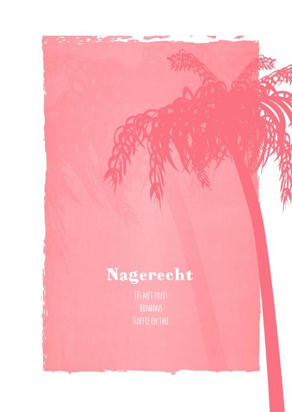 Menu beach palm roze 3